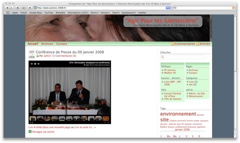 Elections Municipales 2008 - SANNOIS - Agir Pour les Sannoisiens dans adresses web sannois2008fr