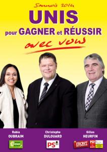 Elections municipales Sannois 2014 : www.sannois2014.fr dans adresses web sannois-tract-1-212x300